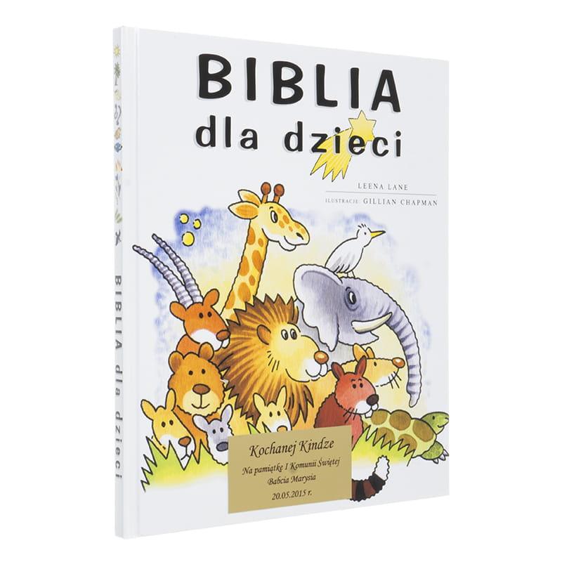 a626f3de12388 BIBLIA DLA DZIECI z grawerem PAMIĄTKA CHRZTU, PIERWSZEJ KOMUNII QUO ...